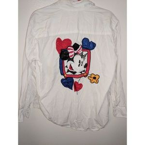 Vintage Minnie and Mickey button up